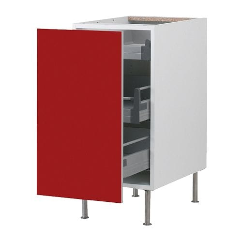Faktum base cabinet with pull out storage abstrakt red for 50cm kitchen cabinets