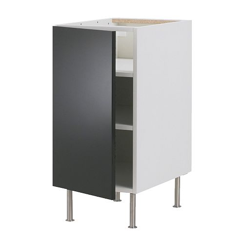 Faktum base cabinet with shelves abstrakt black 30 cm ikea for 50cm kitchen cabinets