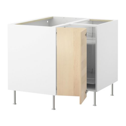 FAKTUM Corner base cabinet with carousel IKEA The shelves are adjustable and can be rotated for easy access.
