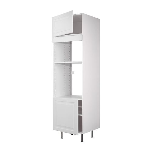 FAKTUM High cabinet f micro/oven/2 doors IKEA 2 reinforced shelves offer extra stability for built-in appliances.