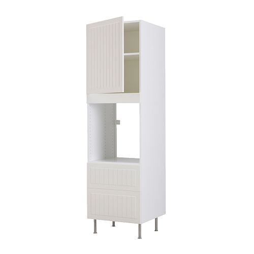 FAKTUM High cabinet f oven+door/2 drawers IKEA 2 reinforced shelves offer extra stability for built-in appliances.