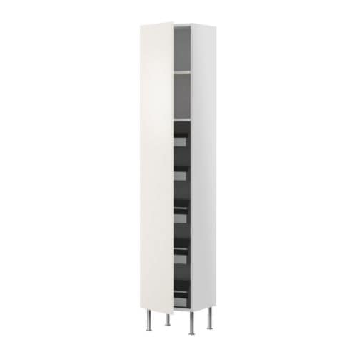 FAKTUM High cabinet with drawers/shelves IKEA You can customise spacing as you need, because the shelf is adjustable.