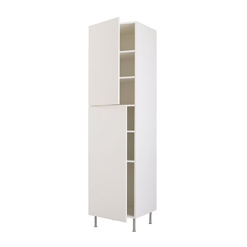 FAKTUM High cabinet with shelves IKEA Adjustable shelf; adapt spacing to your own storage needs.