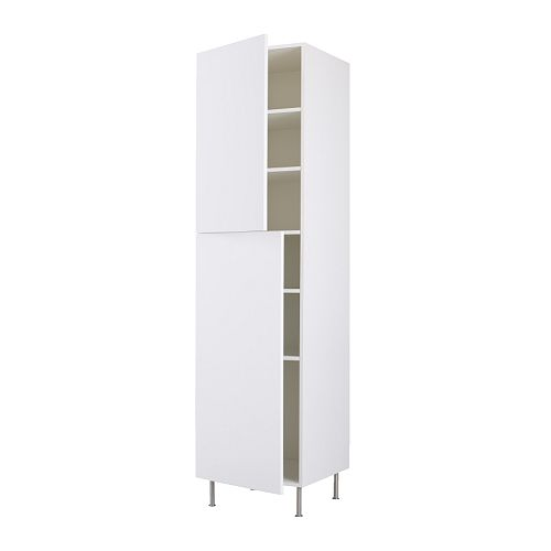 FAKTUM High cabinet with shelves IKEA You can customise spacing as you need, because the shelf is adjustable.