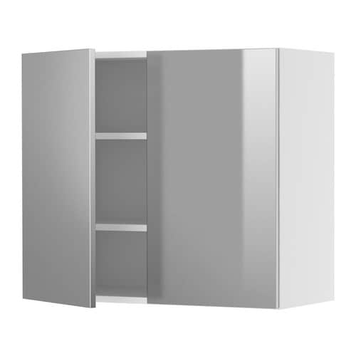 FAKTUM Wall cabinet with 2 doors IKEA Adjustable shelf; adapt spacing to your own storage needs.  Sturdy frame construction, 18 mm thick.