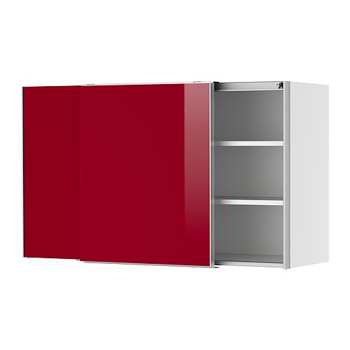 Spülbecken Unterschrank Ikea ~ FAKTUM Wall cabinet with sliding doors IKEA Sliding doors don't take