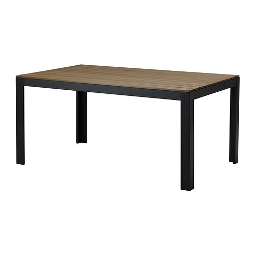 Falster table outdoor black brown ikea - Table reglable en hauteur ikea ...