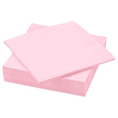 FANTASTISK Paper napkin, light pink, 40x40 cm