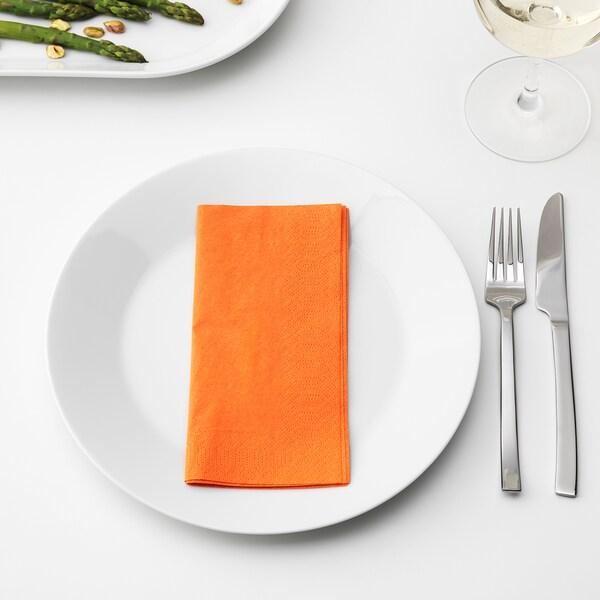 FANTASTISK Paper napkin, orange, 40x40 cm