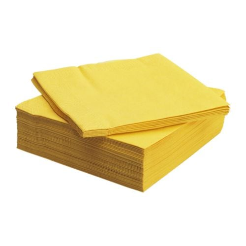 FANTASTISK Paper napkin, yellow