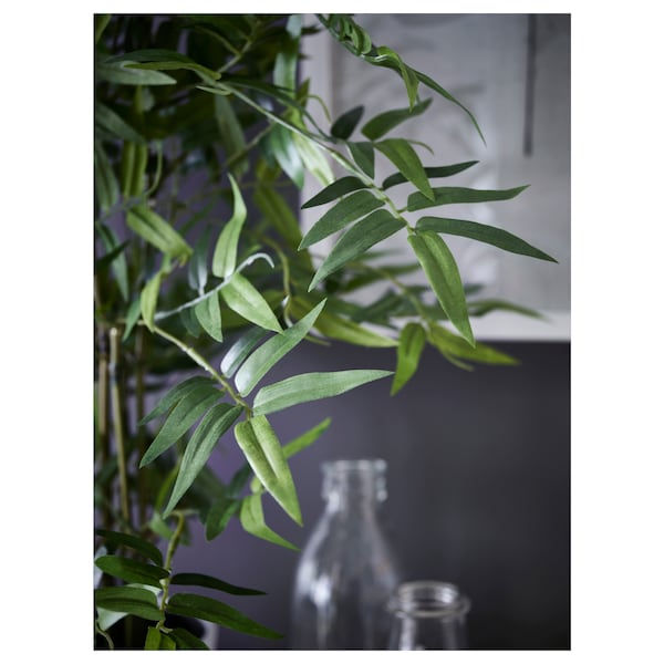 FEJKA Artificial potted plant, in/outdoor bamboo, 12 cm