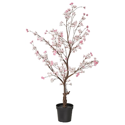 FEJKA Artificial potted plant, in/outdoor/cherry-blossoms pink, 19 cm