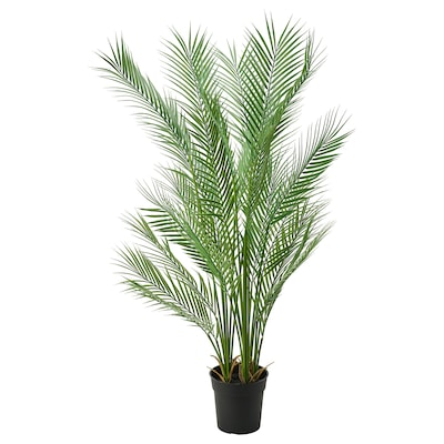 FEJKA Artificial potted plant, in/outdoor palm, 19 cm