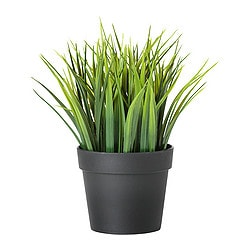 FEJKA artificial potted plant, in/outdoor grass