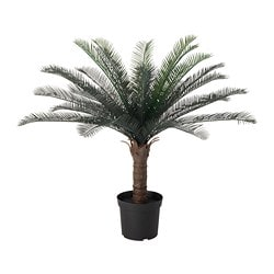 FEJKA artificial potted plant, in/outdoor sago palm