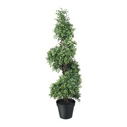 FEJKA artificial potted plant, in/outdoor, Box twisted