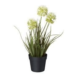 FEJKA artificial potted plant, allium white
