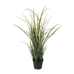 FEJKA artificial potted plant, in/outdoor decoration, grass
