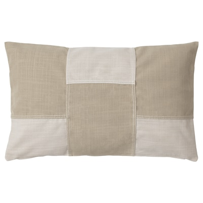 FESTHOLMEN Cushion cover, in/outdoor/light beige beige, 40x65 cm