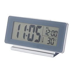 FILMIS clock/thermometer/alarm, grey