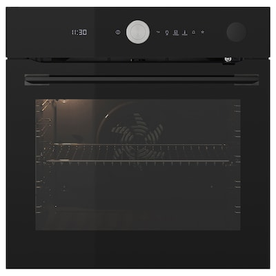 FINSMAKARE Forced air oven w pyro/steam func, black
