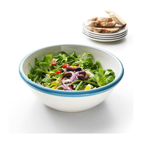 FINSTILT Serving bowl IKEA Perfect for bread, a large salad or as a decorative fruit bowl.