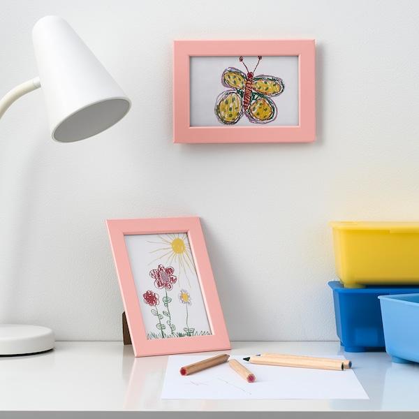 FISKBO Frame, light pink, 10x15 cm