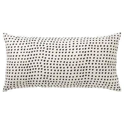 FJÄLLTIMOTEJ Cushion, white/black, 30x58 cm