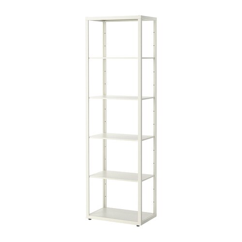 FJÄLKINGE Shelving unit IKEA The long, slender shelves give the shelving unit a light and airy look.