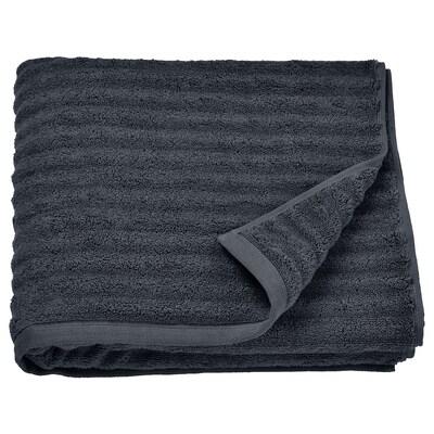 FLODALEN Bath towel, dark grey, 70x140 cm