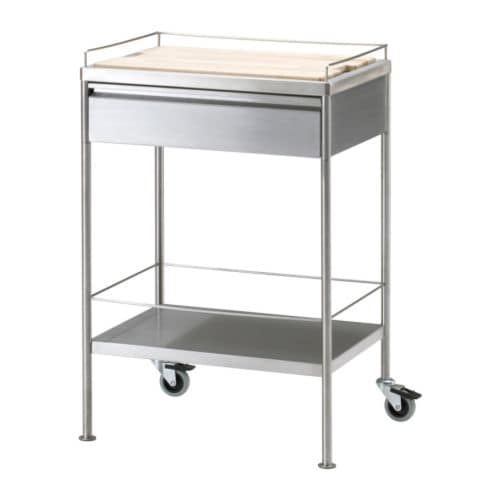 FLYTTA Kitchen trolley IKEA Gives you extra storage, utility and work space.  Lockable castors for high stability.