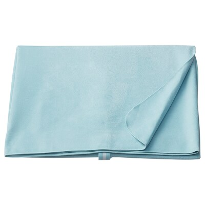 FÖLLSJÖN Travel towel, light blue, 75x100 cm