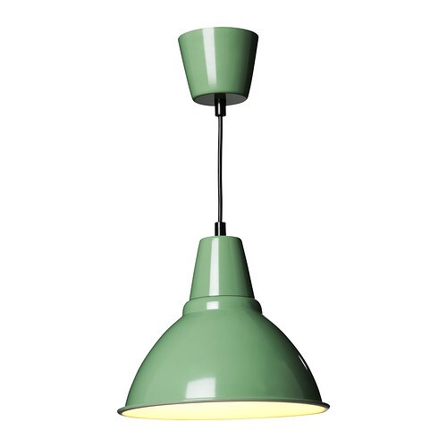FOTO Pendant lamp IKEA This lamp gives a pleasant light for dining and spreads a good directed light across your dining or bar table.