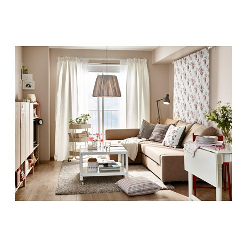 FRIHETEN Corner sofa bed with storage Skiftebo beige IKEA