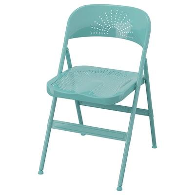 FRODE folding chair turquoise 100 kg 45 cm 55 cm 80 cm 40 cm 41 cm 46 cm