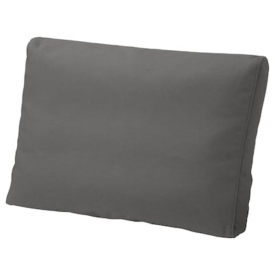 FRÖSÖN/DUVHOLMEN Back cushion, outdoor, dark grey, 62x44 cm
