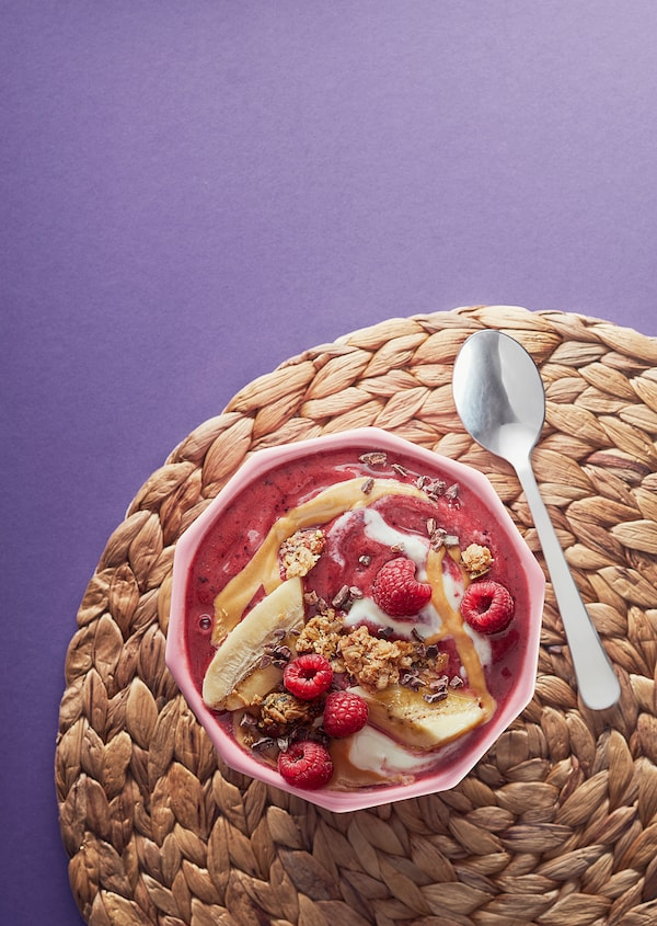 FRUKTSTUND Pre-blended smoothie mix, strawberry with lemongrass/frozen, 420 g