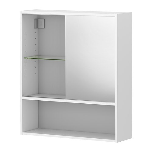 FULLEN Mirror cabinet IKEA Adjustable shelf; adapt spacing according to your personal needs.