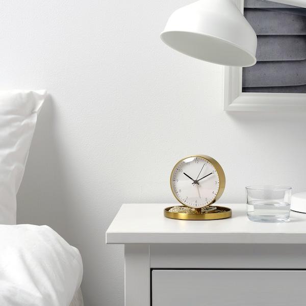 GÄNGA alarm clock brass-colour 12 cm 13 cm 13 cm
