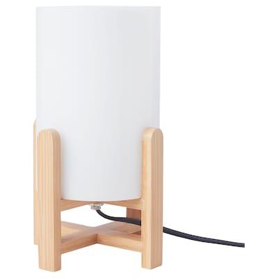 GAFFELDUN Table lamp, glass/bamboo
