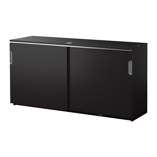 Galant cabinet with sliding doors black brown ikea - Ikea cabinet doors on existing cabinets ...