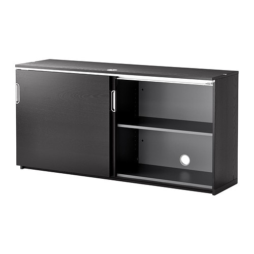 Marvelous GALANT Cabinet With Sliding Doors   Black Brown   IKEA