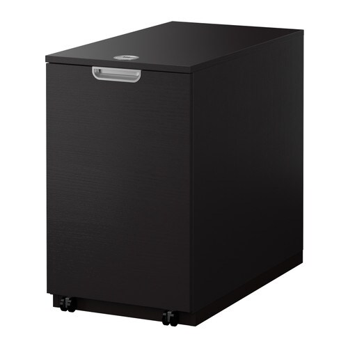 Galant Storage Unit For Printer Black Brown Ikea