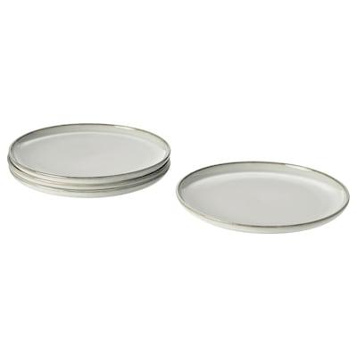 GLADELIG plate grey 25 cm 4 pack