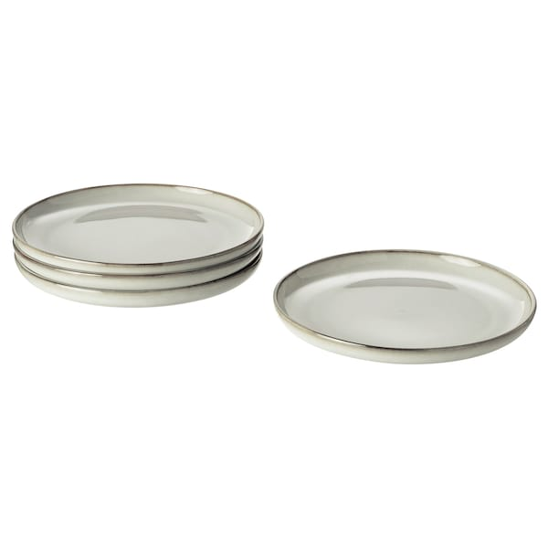 GLADELIG Side plate, grey, 20 cm