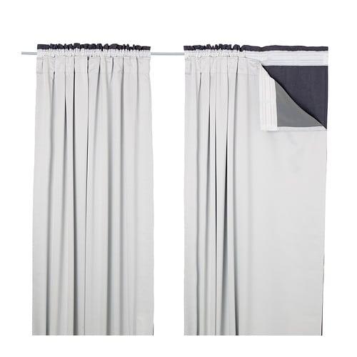 GLANSNÄVA Curtain Liners, 1 Pair