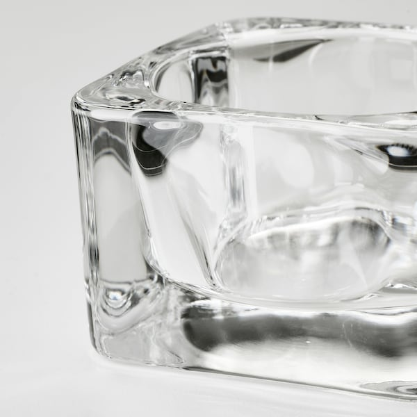 GLASIG Tealight holder, clear glass, 5x5 cm
