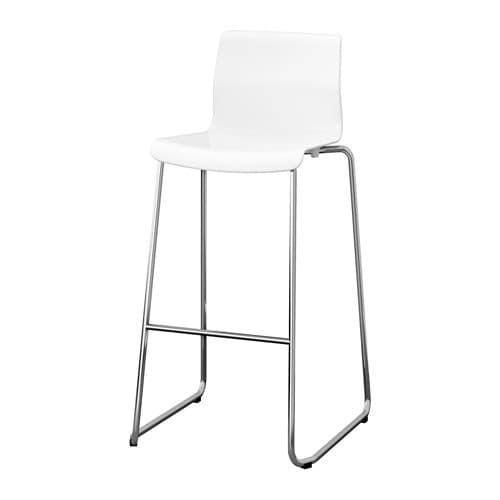 GLENN Bar stool IKEA The stool can be stacked, so you can keep several on hand and store them on the same space as one.