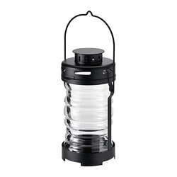 GLIMRANDE lantern for tealight, in/outdoor, black