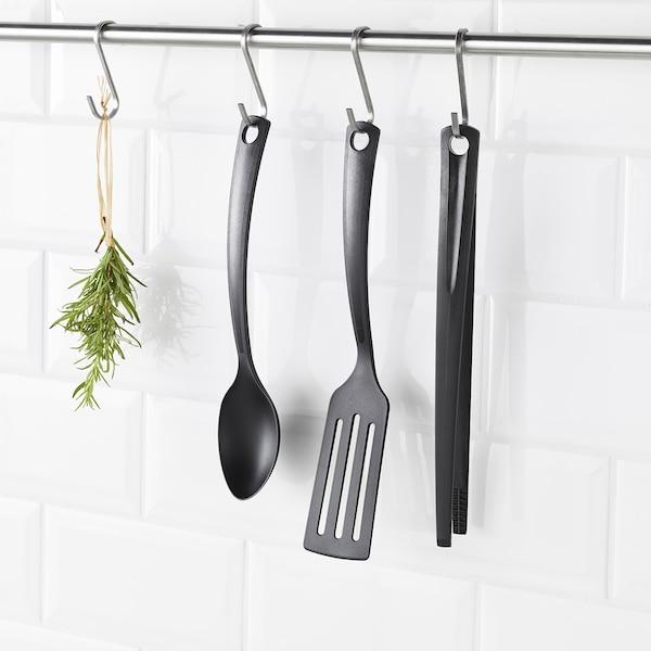 GNARP 3-piece kitchen utensil set, black
